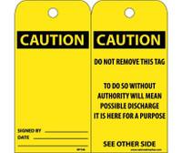 Tags Caution 6X3 Unrip Vinyl 25/Pk