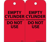 Tags Empty Cylinder Do Not Use 6X3 Unrip Vinyl 25/Pk