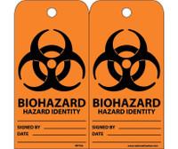Tags Biohazard Hazard Identity 6X3 Unrip Vinyl 25/Pk