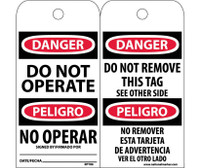 Tags Danger Do Not Operate (Bilingual) 6X3 Unrip Vinyl 25/Pk