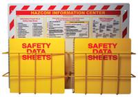 Rtk Haz Com Information Center 20 X 28 2 Baskets 2 Rtk60 Binders And Chains Red Yellow Black On White 3Mm Rigid Plastic