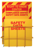 Rtk Center 20 X 14 1 Basket 1 Rtk61Bi Binder And Chain Red On Yellow 3Mm Heavy Duty Rigid Plastic