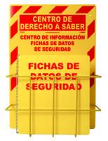 Spanish Rtk Center 20 X 14 1 Basket 1 Rtk61Sp Binder And Chain Red On Yellow 3Mm Heavy Duty Rigid Plastic