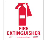 Fire Extinguisher (W/Graphic) 7X7 Ps Vinyl