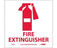 Fire Extinguisher (W/Graphic) 7X7 Ps Vinyl