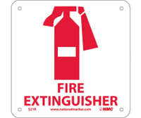 Fire Extinguisher (W/ Graphic) 7X7 Rigid Plastic