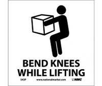 Bend Knees While Lifting (W/Graphic) 7X7 Ps Vinyl