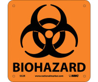 Biohazard (W/ Graphic) 7X7 Rigid Plastic