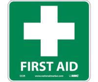 First Aid (W/ Graphic) 7X7 Rigid Plastic