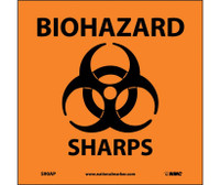 Biohazard Sharps (Graphic) 4X4 Ps Vinyl 5/Pk
