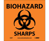 Biohazard Sharps (W/Graphic) 7X7 Ps Vinyl