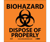 Biohazard Dispose Of Properly (W/Graphic) 7X7 Ps Vinyl