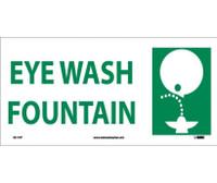 Eye Wash Fountain (W/ Graphic) 7X17 Ps Vinyl