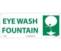 Eye Wash Fountain (W/Graphic) 7X17 Rigid Plastic