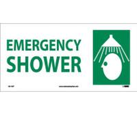 Emergency Shower (W/ Graphic) 7X17 Ps Vinyl