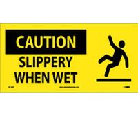 Caution Slippery When Wet (W/ Graphic) 7X17 Ps Vinyl