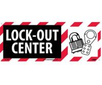 Lock Out Center (W/Graphic) 7X17 Rigid Plastic
