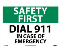 Safety First Dial 911 10X14 Ps Vinyl