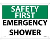 Safety First Emergency Shower 10X14 Rigid Plastic