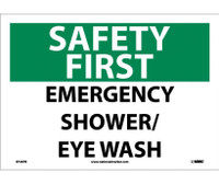Safety First Emergency Shower/Eye Wash 10X14 Ps Vinyl