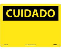 Cuidado (Blank) (Spanish). 10X14 .040 Alum