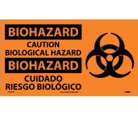 Biohazard Caution Biological Hazard (Bilingual W/Graphic) 10X18 Ps Vinyl