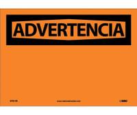 Advertencia Blank 10X14 Ps Vinyl