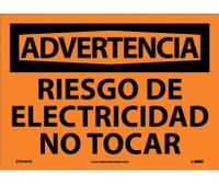 Advertencia Riesgo De Electricidad No Tocar 10X14 Ps Vinyl