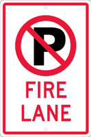 (No Parking Graphic)Fire Lane 18X12 .063 Alum Sign