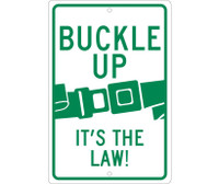 Buckle Up It'S The Law 18X12 .063 Alum