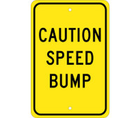 Caution Speed Bump 18X12 .080 Egp Ref Alum