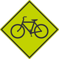 (Graphic Bike)Sign 30X30 .080 Dg Ref Alum