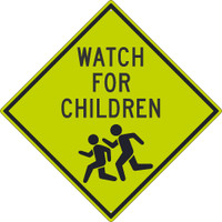 (Graphic Children Crossing) Sign 30X30 .080 Dg Ref Alum
