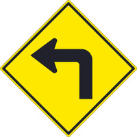 (Right Turn Arrow Graphic) Sign 30X30 .080 Hip Ref Alum