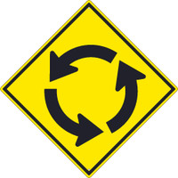 (Roundabout Graphic)Sign 30X30 .080 Hip Ref Alum