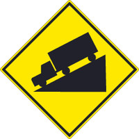 (Truck Decline Graphic)Sign 30X30 .080 Hip Ref Alum