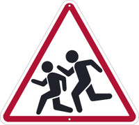 (Graphic Children Crossing) Sign 24 X 24  .080 Hip Ref Alum