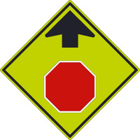 (Graphic Stop Ahead)Sign 30X30,.080 Dg Ref Alum