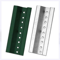 3 Ft Break Away U Channel Steel Sign Post,2# Baked Green Enamel Punched With 3/8 Dia. Holes 1 In. On Center Full Length