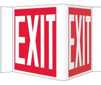 Visi Sign Exit Red 8X14 1/2 Rigid Vinyl