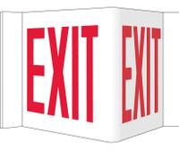 Visi Sign Exit White 8X14 1/2 Rigid Vinyl