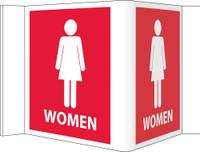 Visi Sign Women Red 8X14 1/2 Rigid Vinyl