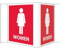 Visi Sign Women Red 5 3/4X8 3/4 Rigid Vinyl