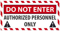 Do Not Enter Large Wall And Floor Sign 24X46 Texwalk