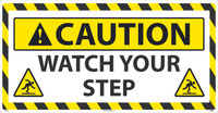 Caution Watch Your Step Large Floor Sign 24X46 Sportwalk