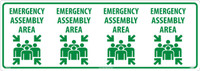 Emergency Assembly Area Column Wrap Sign 12X34 Asphalt Art