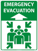 Emergency Evacuation Large Floor And Wall Sign 24X18 Asphalt Art
