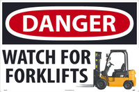 Danger Watch For Forklifts Large Floor And Wall Sign 24X36 Sportwalk