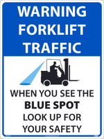 Warning Forklift Traffic Large Wall And Floor Sign 24X18,Texwalk