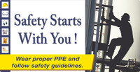 Safety Starts With You Large Wall Sign 24X46,Texwalk
